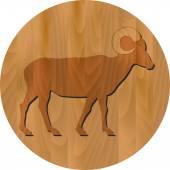 Vector zodiac sign - Goat Year — Stock Vector