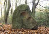 Menhir Stone Skull — Stock Photo