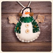 Snowman instagram — Stock Photo