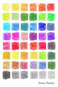 Watercolour palette — Stock Vector