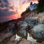 Sunset at Bass Harbor Lighthouse — Stock Photo #55256003