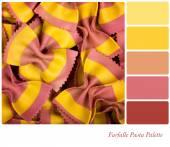 Farfalle pasta palette — Stock Photo