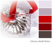 Chrsitmas Bauble Palette — Stock Photo