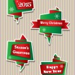 Origami Christmas banners — Stock Vector #58161177