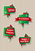 Origami Christmas banners — Stock Vector