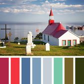 Tadoussac Chapel palette — Stock Photo
