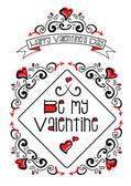 More Valentine doodles — Stock Vector