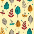 Pattern of flowers and leaves — Stock Vector #65589719