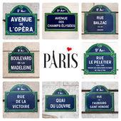 Parisian street signs — Stock Photo