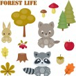 Forest life icons set — Stock Vector #54526011