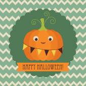 Carte de voeux Happy halloween — Vecteur