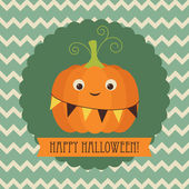 Felice halloween greeting card — Vettoriale Stock
