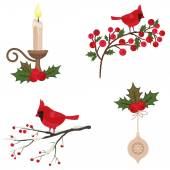 Beautiful Christmas icons set — Stock Vector