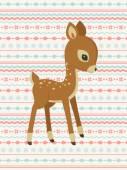 Baby deer pattern card — Stock Vector