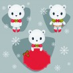 Three different polar bears — Stock Vector #60975017
