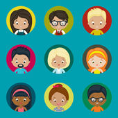 Avatar vector icons set for website. Males and females. — 图库矢量图片