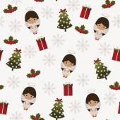 Christmas festive seamless pattern  — Stock Vector