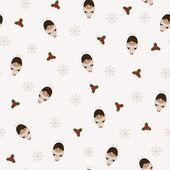 Christmas festive seamless patter — Stock Vector
