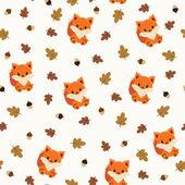 Baby fox seamless wallpaper — Stock Vector