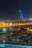 Burj Al Arab hotel in Dubai at night, UAE — Stock Photo