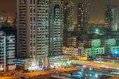 Technology park in Dubai Internet City at dusk, UAE — Stock Photo