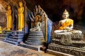 Buddha statues in the temple — Stock Photo