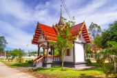 Buddhism temple in Bang Muang town — Stock Photo