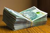 Polish zloty banknotes — Stock Photo