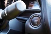 Engine start stop button — Stock Photo