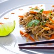 Chinese noodles with duck and vegetables — Stock Photo #53523639