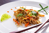 Chinese noodles with duck and vegetables — Foto Stock