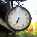 Vintage street clock — Stock Photo #53736461