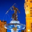 Fountain of the Neptune in old town of Gdansk — Stock Photo #53736877