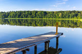 Jetty on the masurian lake — Stockfoto