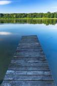Jetty on the masurian lake — Foto de Stock