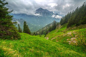 Mountain trail in Bavarian Alps — Stock Photo
