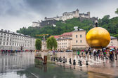 Hohensalzburg Castle in city centre of Salzburg, Austria — Stock Photo
