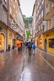People on the streets of Salzburg, Austria — Stock Photo