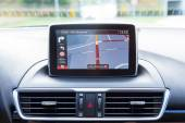 Navigation in the car — Stockfoto