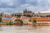 Old town of Prague at Vltava river — Zdjęcie stockowe