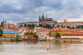 Old town of Prague at Vltava river — Stok fotoğraf