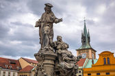 Statues on Charles Bridge in Prague — Stock Photo