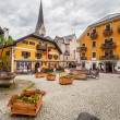 Town square of Hallstatt town, Austria — Stock Photo #54442065