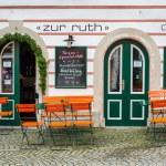 Town square of Hallstatt town, Austria — Stock Photo #54442451
