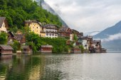 Architecture of Hallstatt village — Stock Photo