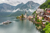 Hallstatt village in Alps of Austria — Stock Photo