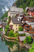 Architecture of Hallstatt village — Stockfoto