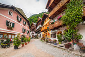 Town square of Hallstatt town, Austria — Stock Photo