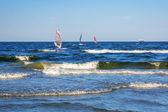 Windsurfing on Baltic sea in Sopot — Stock Photo