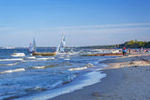 Windsurfing on Baltic sea in Sopot — Stock Photo